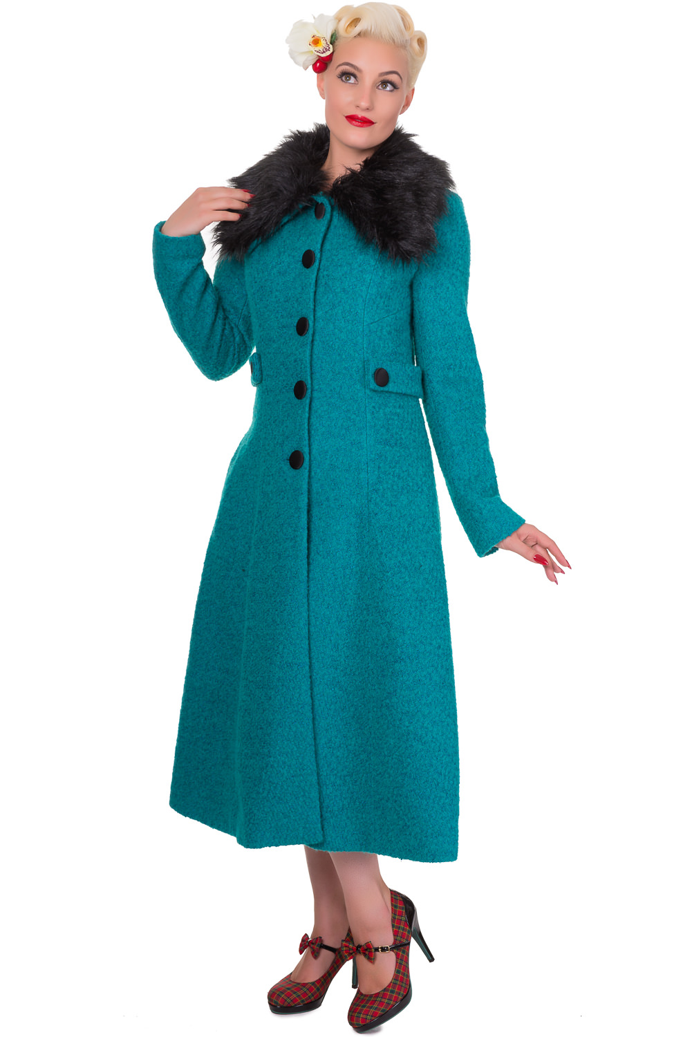 Banned Simple Game 40's 50's Emerald Coat