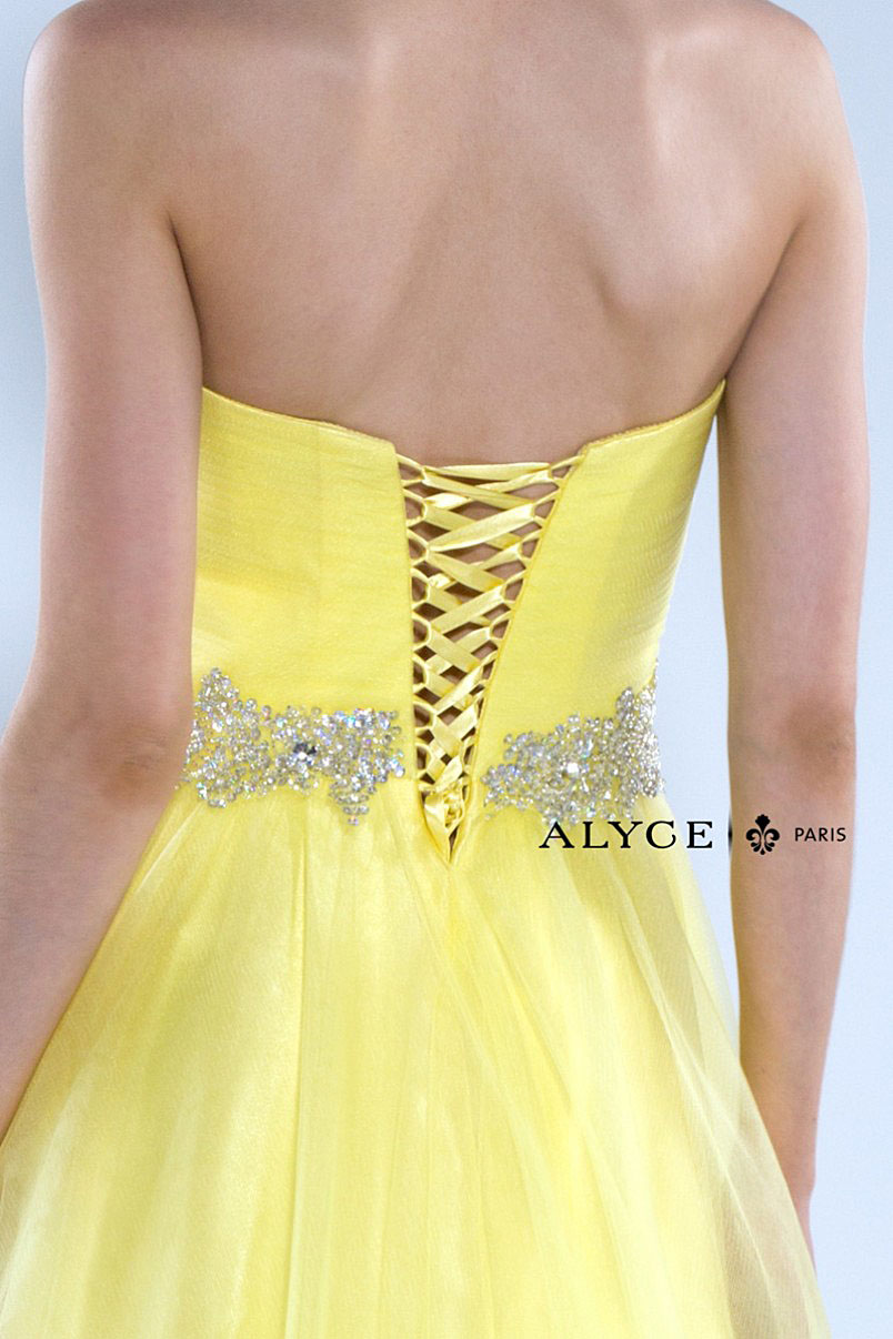 Alyce Paris Dress Yellow 1005