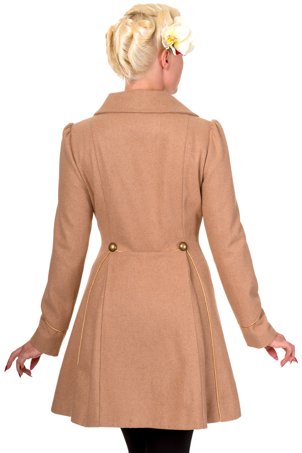 Banned Camel Into The Night 1940s Military Style Coat