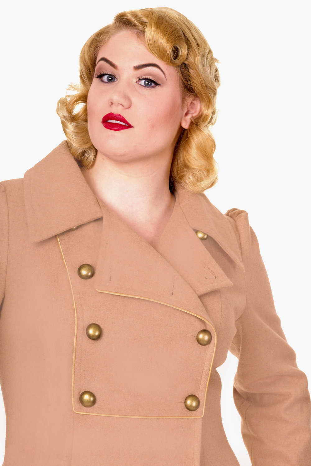 Banned Camel Into The Night 1940s Military Coat