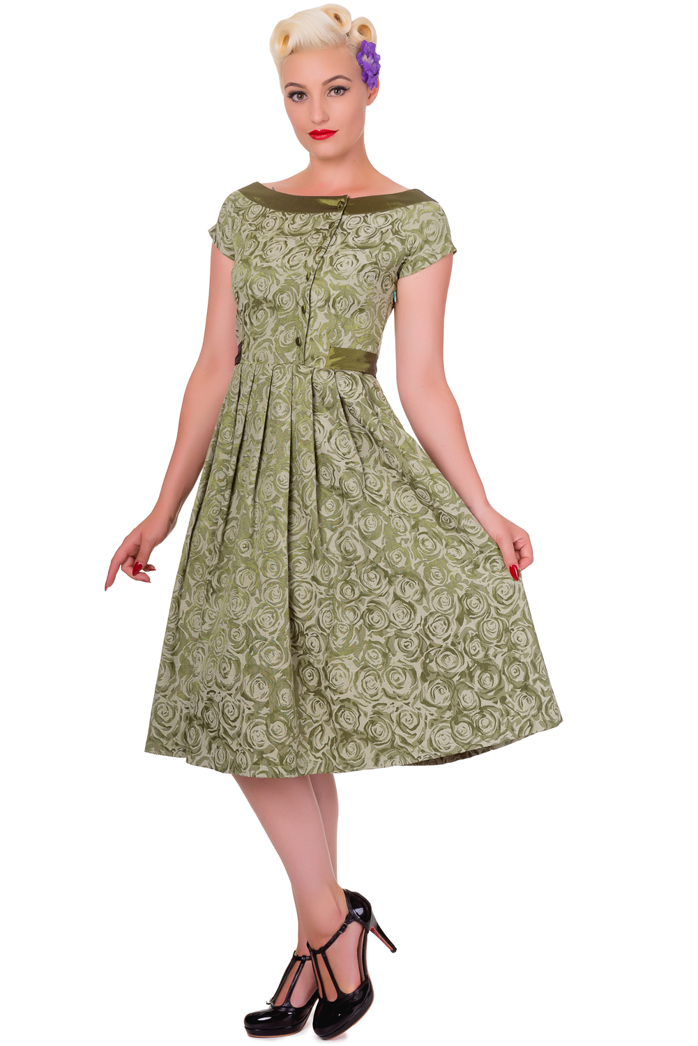 banned day of green dress vintage 1950s prom