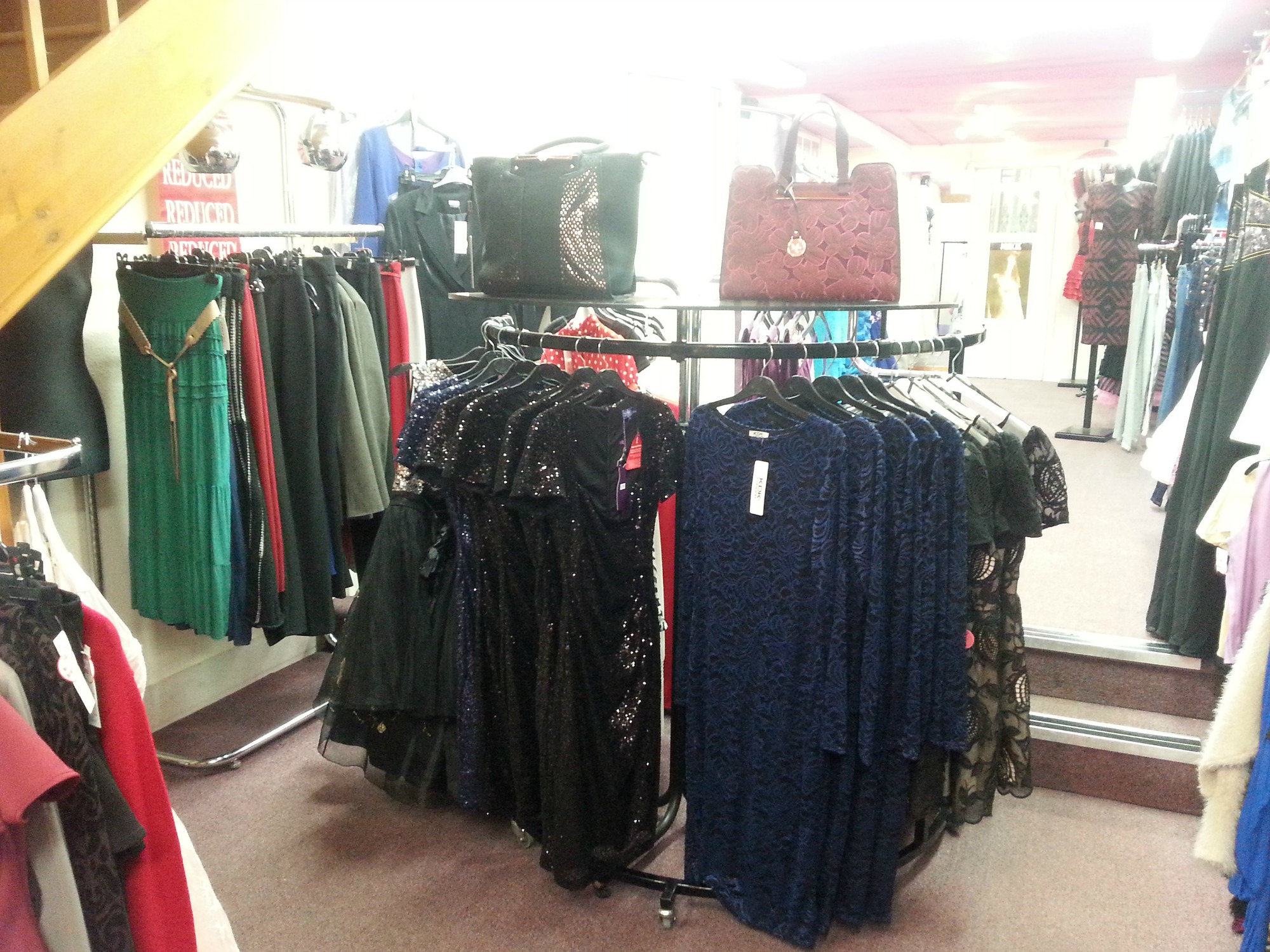Photo showing part of our Prom Dress Shop in Dover