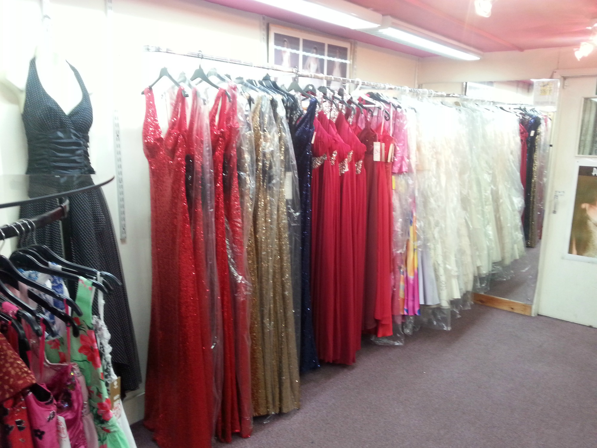Photo showing part of our Prom Dress Shop in Kent