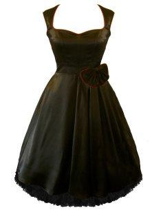 Go To Black Vintage Satin Prom Dress