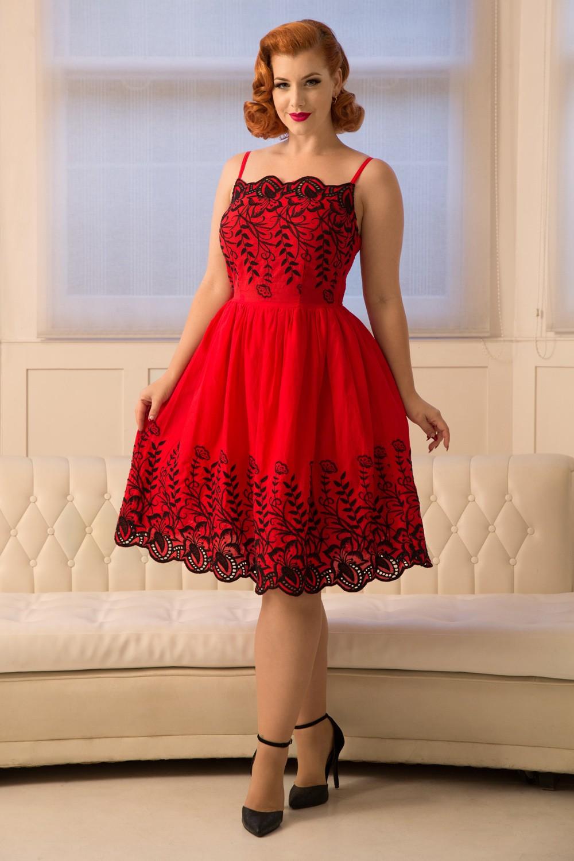 Voodoo Vixen Red Scarlett 50s Dress