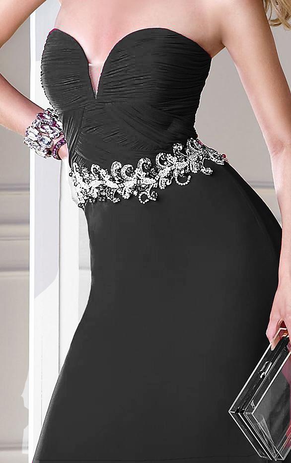 Alyce B'Dazzle Black Dress 35691