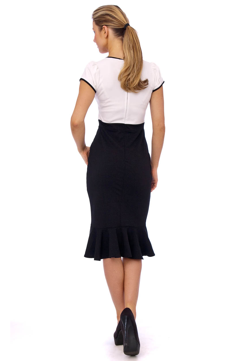 Abby 50s Monochrome Pencil Dress