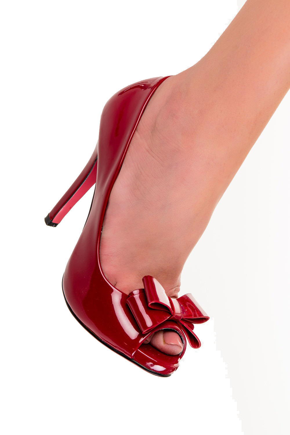 Dancing Days Felicity Lacquered Red Stilettos