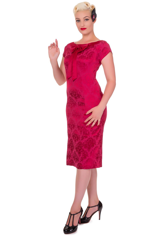 Banned Limitless Burgundy Vintage Midi Dress