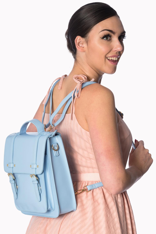 Banned Retro 60s Cohen Baby Blue Handbag