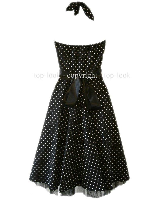 Enlarge Polka Dot Prom Dress