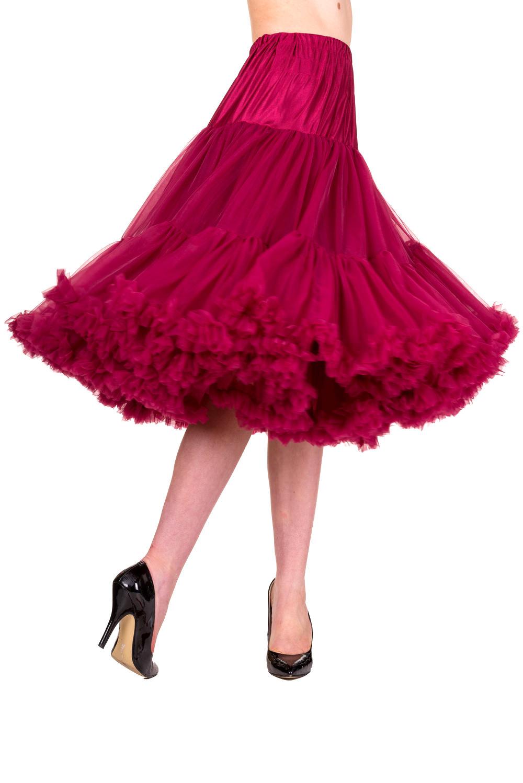 Banned Retro 50s Lizzy Lifeforms Bordeaux Petticoat