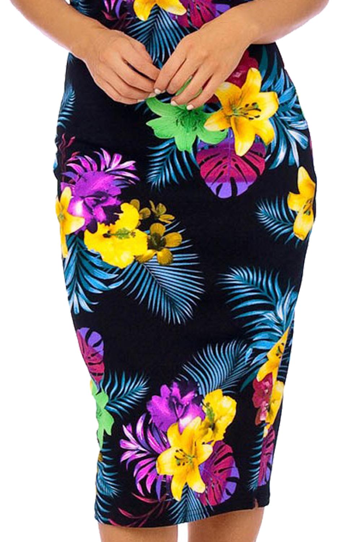 Brigitte Bardot Vintage 50s Midi Floral Dress