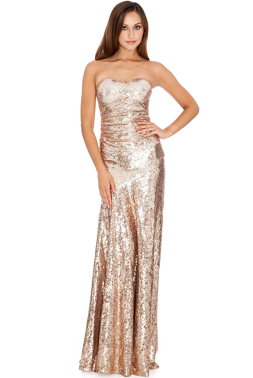 Strapless Champagne Sweetheart Dress