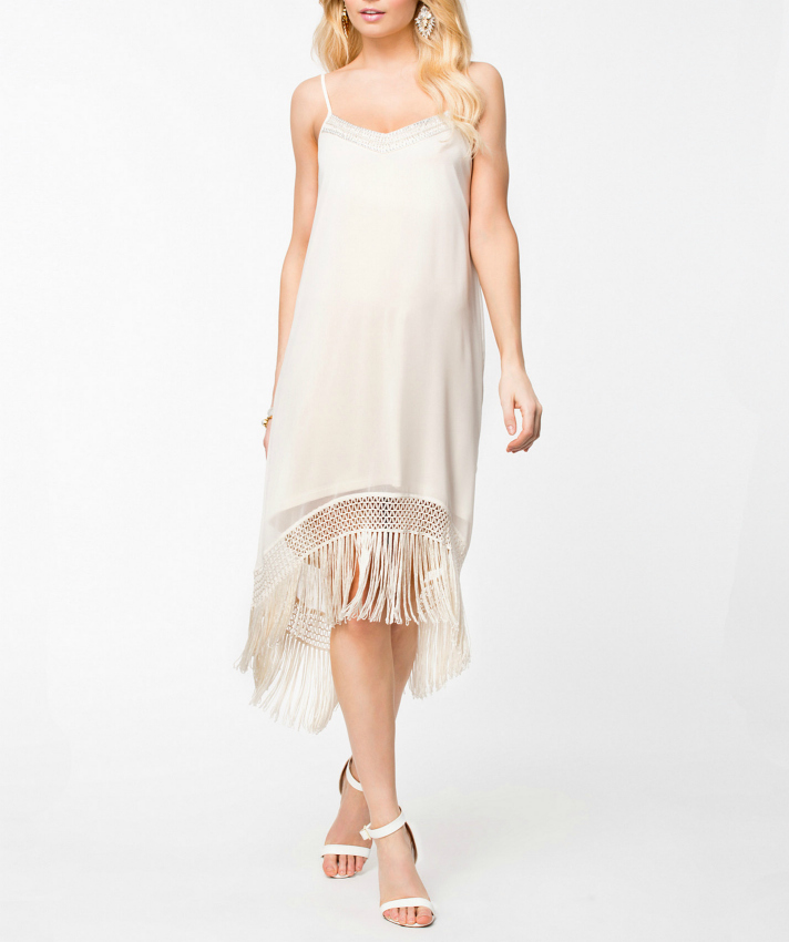 TFNC Ebbie Fringed Dress