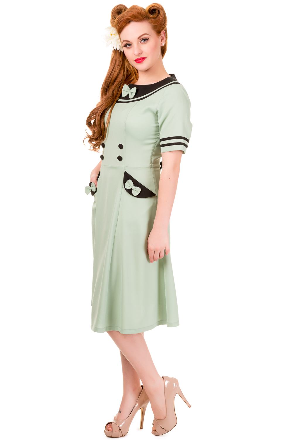 Banned Eliza Mint Green Vintage Rockabilly Dress