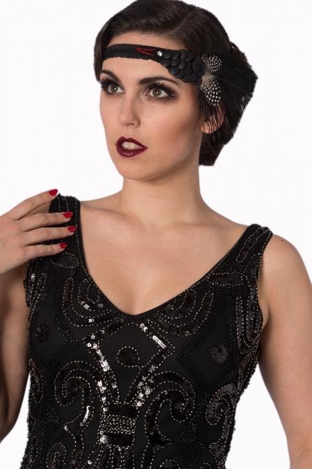 Black Flapper Gatsby Full Sequin Dress