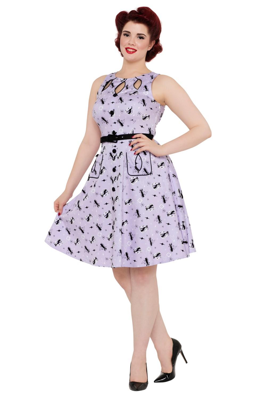 Voodoo Vixen Lavender Kitty Dress