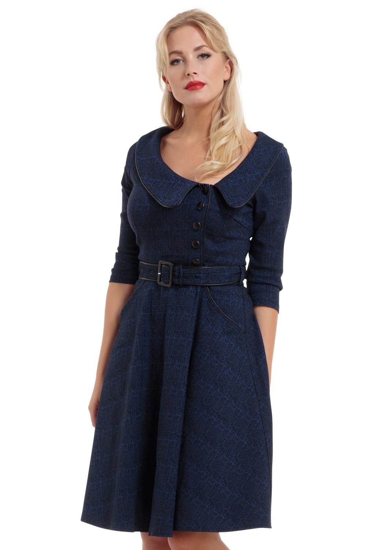Voodoo Vixen Lilly 40s Blue Swing Dress