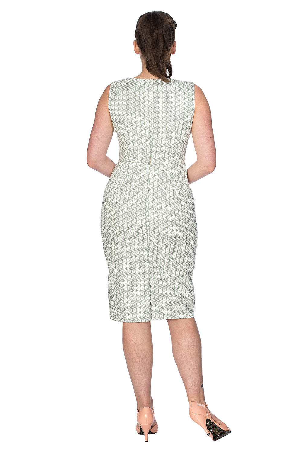 Banned Retro Sexy 60s Tile Wiggle Dress in Mint