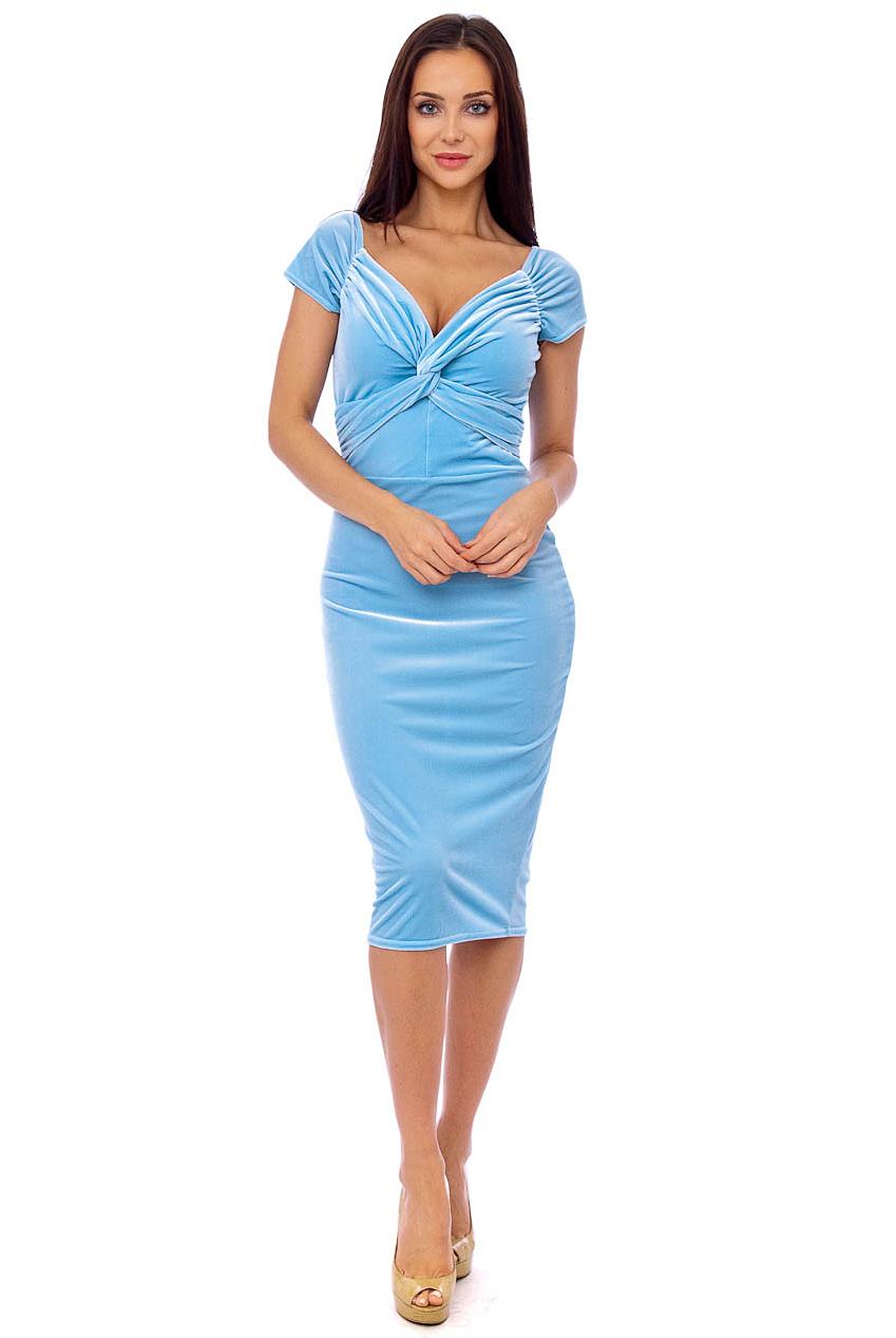 Vintage 50s Blue Marilyn Midi Dress