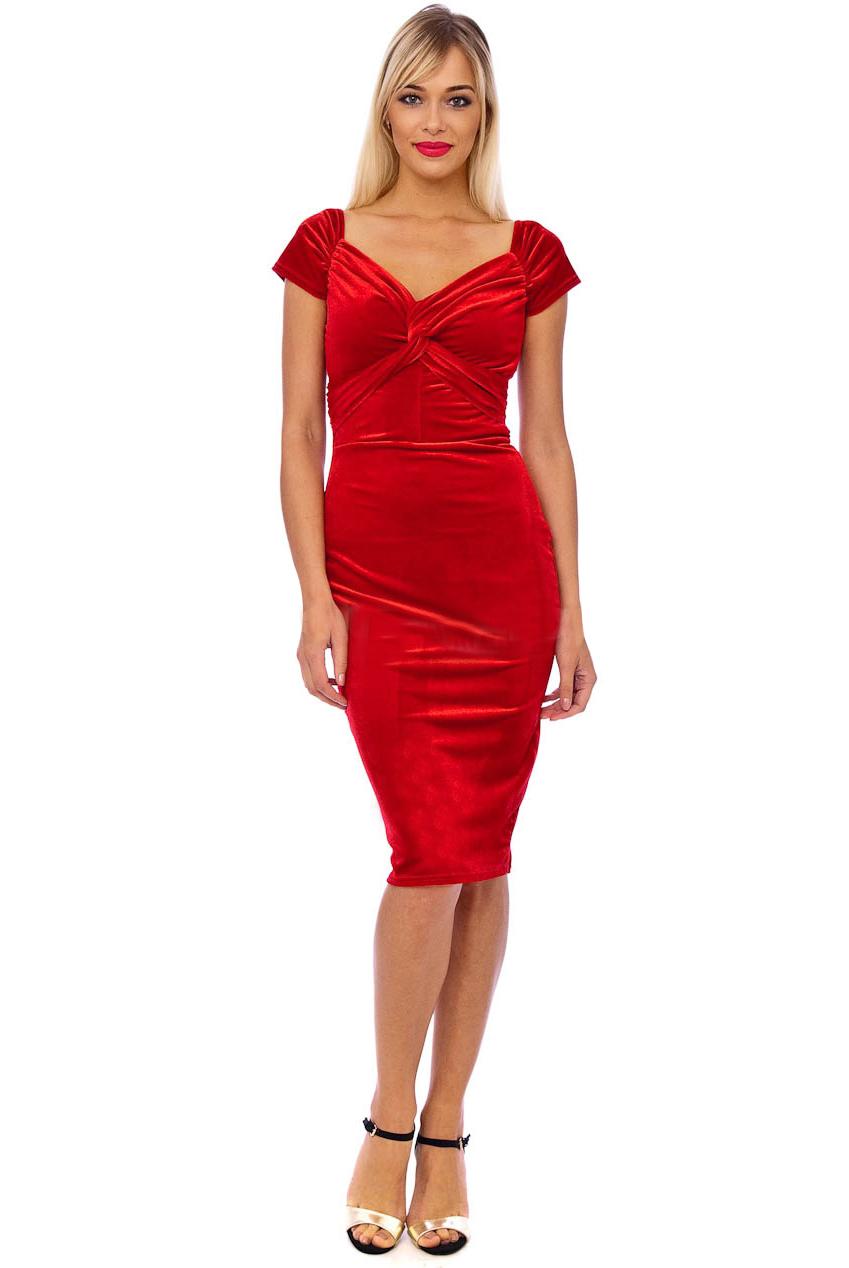 Vintage 50s Red Marilyn Midi Dress