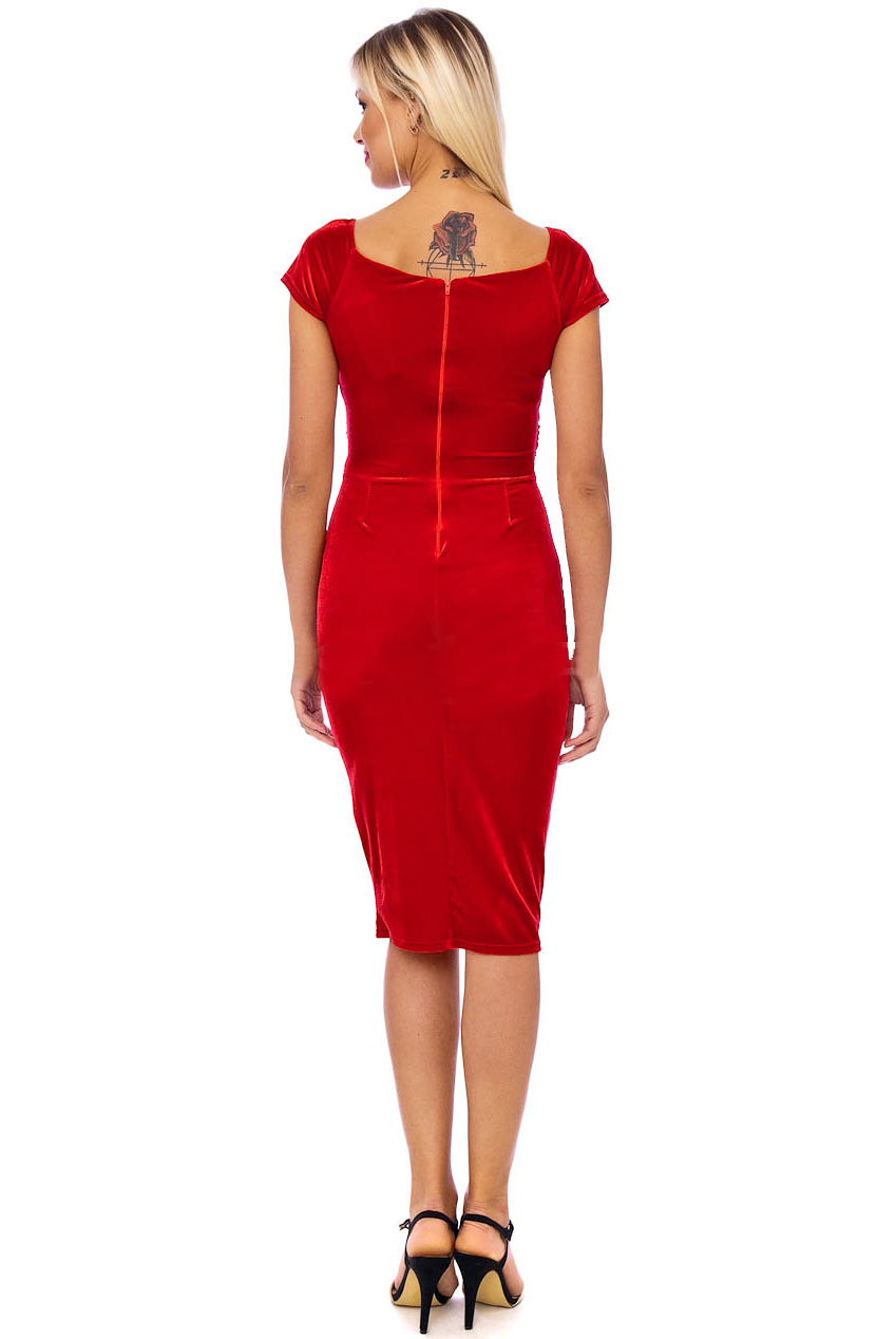 Vintage 50s Red Marilyn Midi Dress
