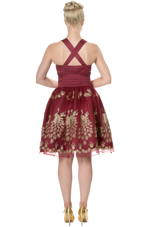 Dancing Days Moonlight Escape Burgundy Prom Dress
