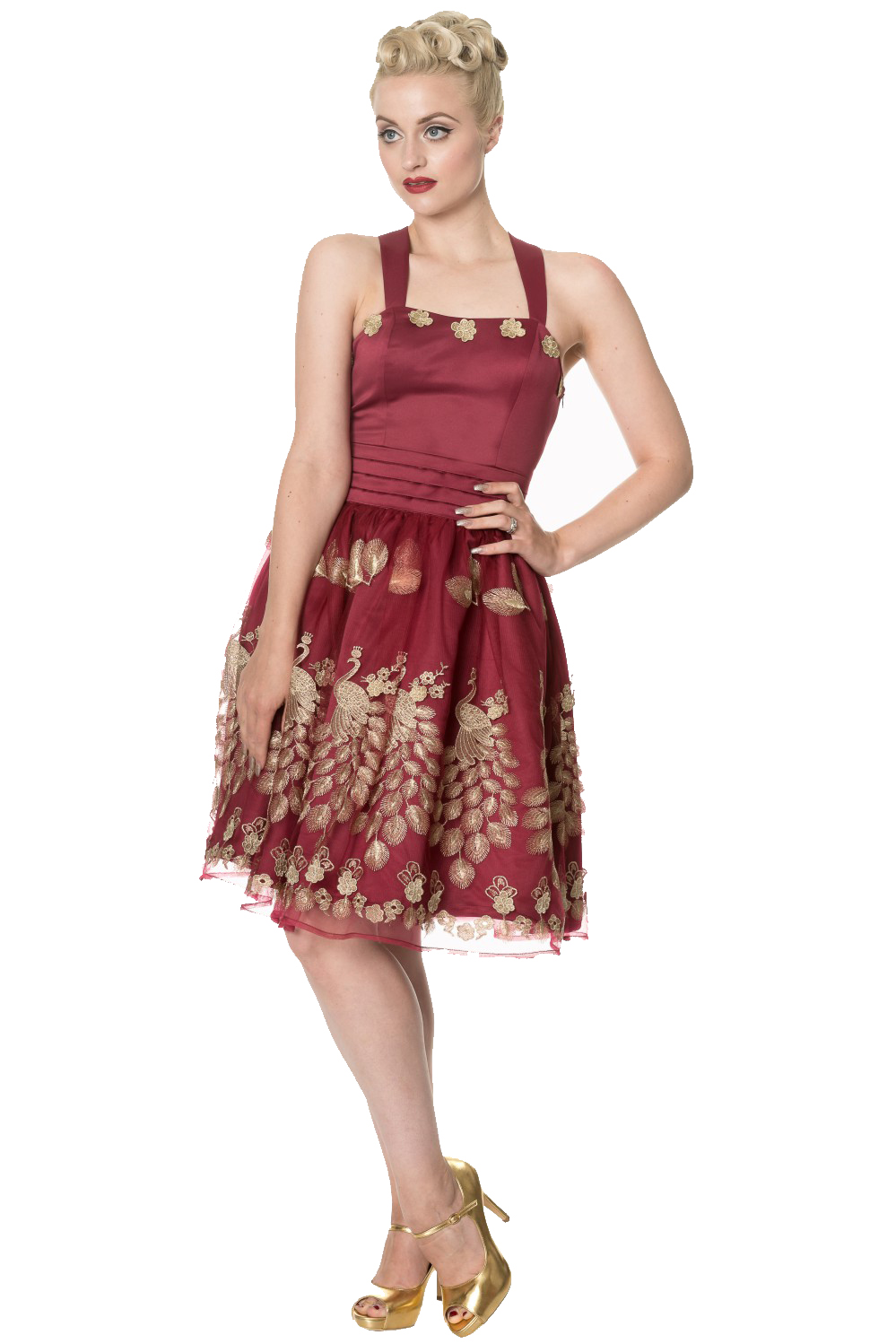 Dancing Days Moonlight Escape Burgundy Prom Dress