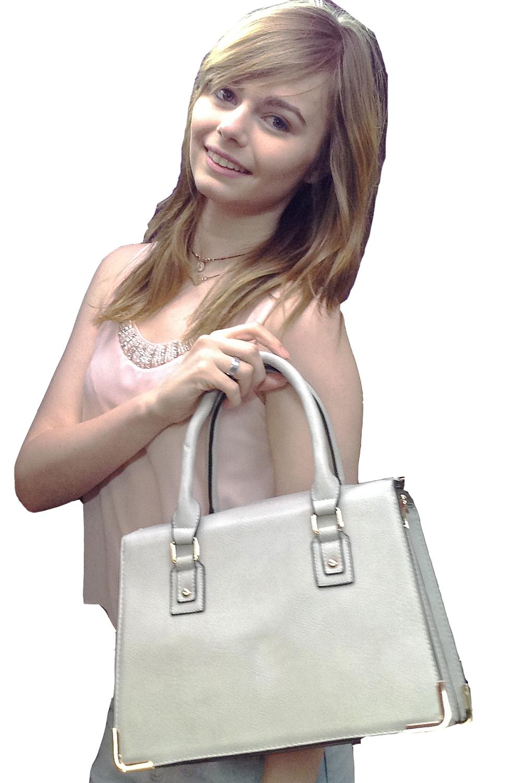 Panache Boutique Dover Olivia Light Grey Handbag