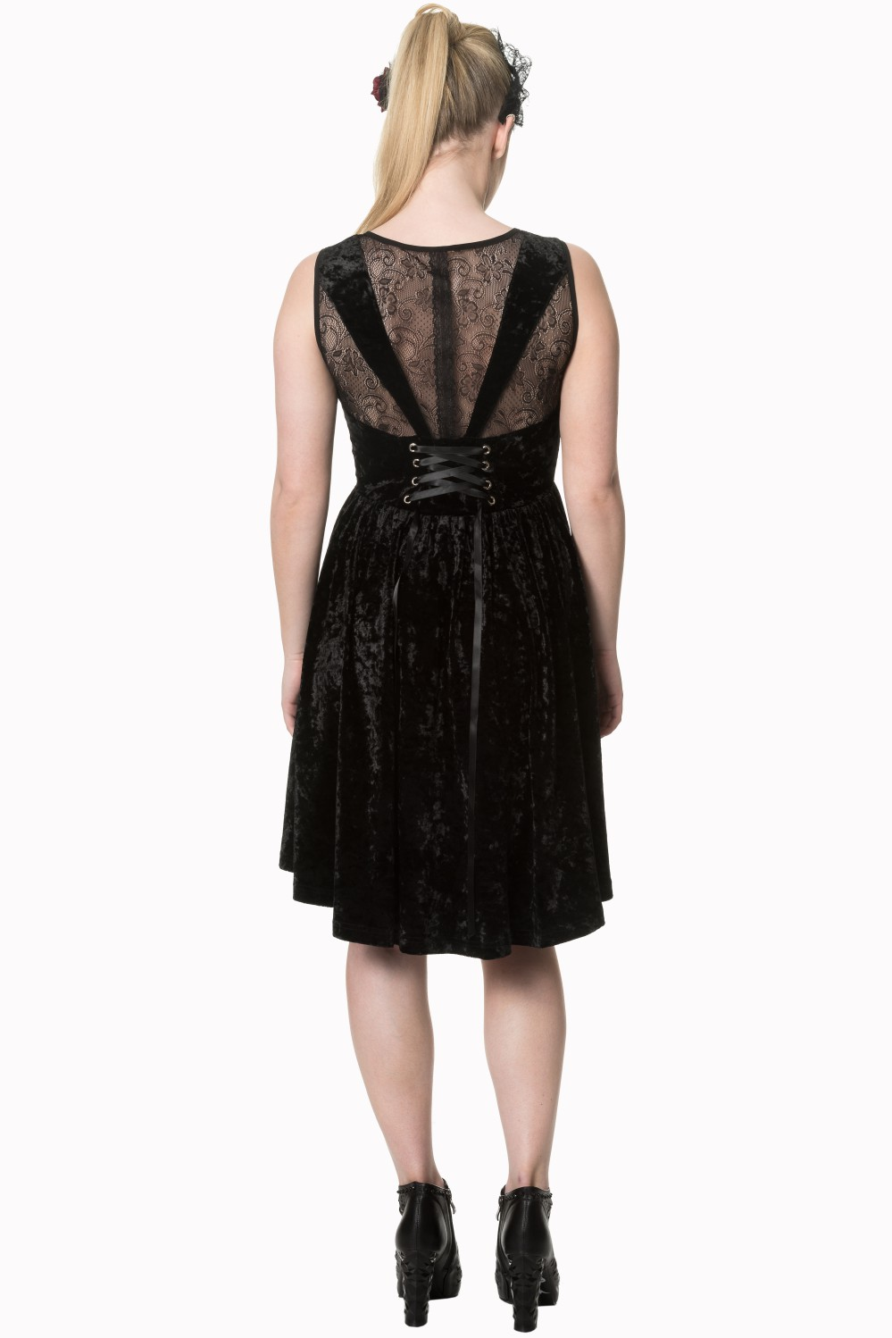 Banned Shadow Angel Velvet Black Dress