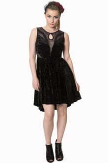 Banned Shadow Angel Velvet Black Dress