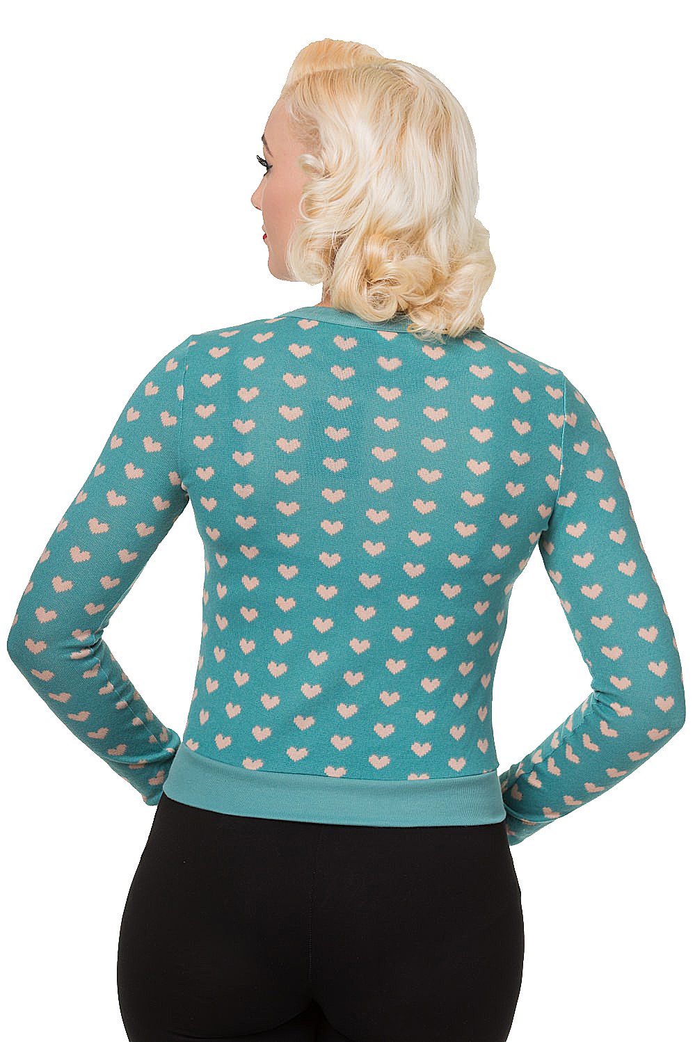 Banned Mint Blue Lovehearts Cardigan