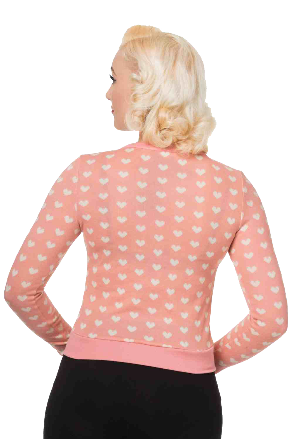 Banned Pink Lovehearts Cardigan