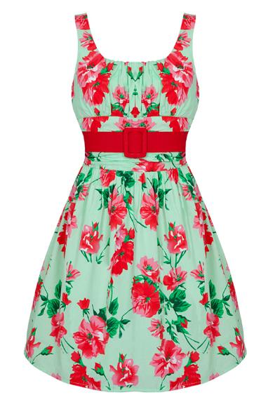Voodoo Vixen Floral Prom Dress