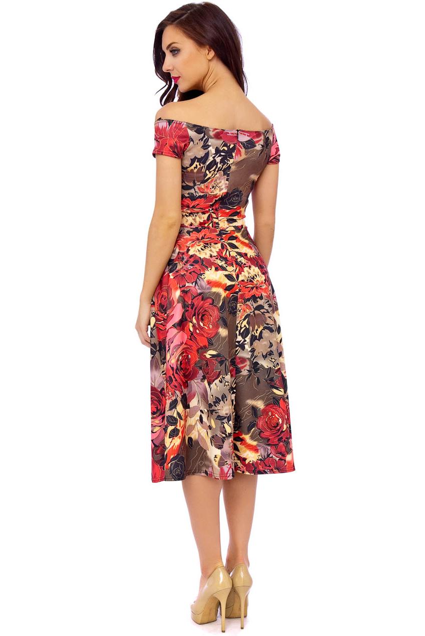 Betsy Bardot Vintage Midi Dress