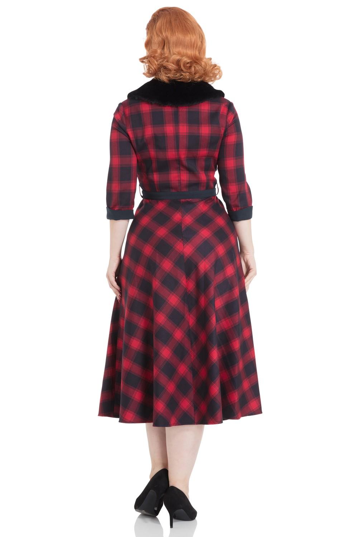 Vixen Bettie Tartan Red Dress