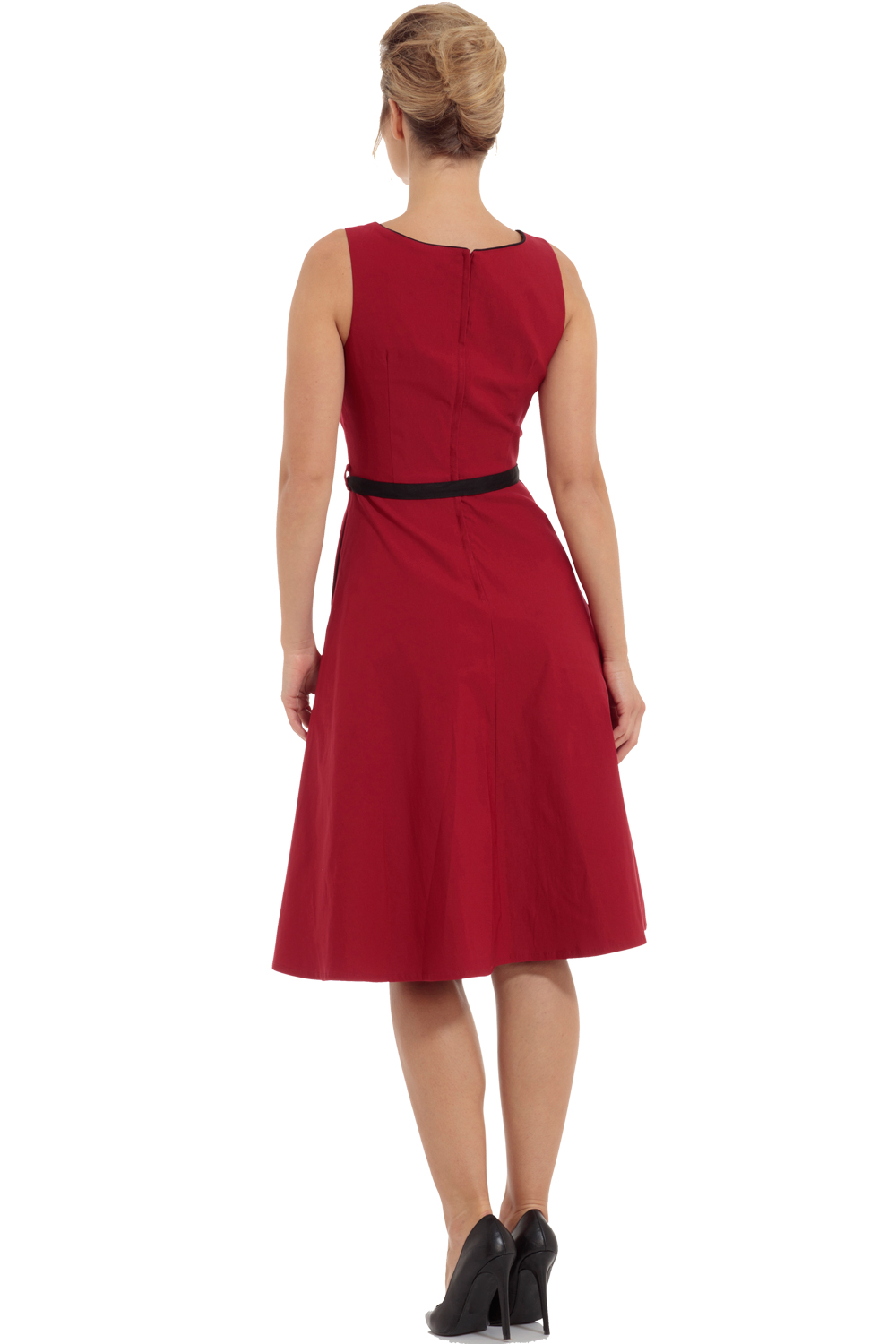 Voodoo Vixen Red 50s Marjorie Swing Dress