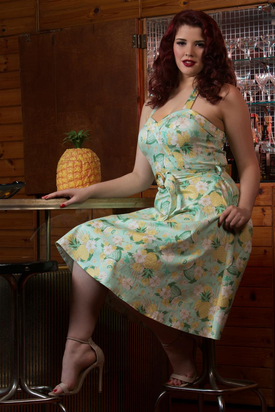 Voodoo Vixen Pineapple Holiday Dress Location