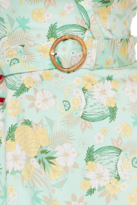 Voodoo Vixen Pineapple Holiday Dress Zoom
