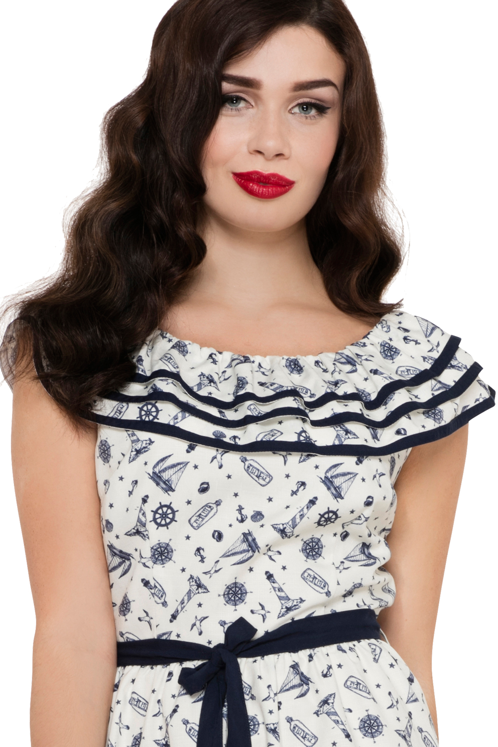 Voodoo Vixen Sailor Frilly St Tropez Dress