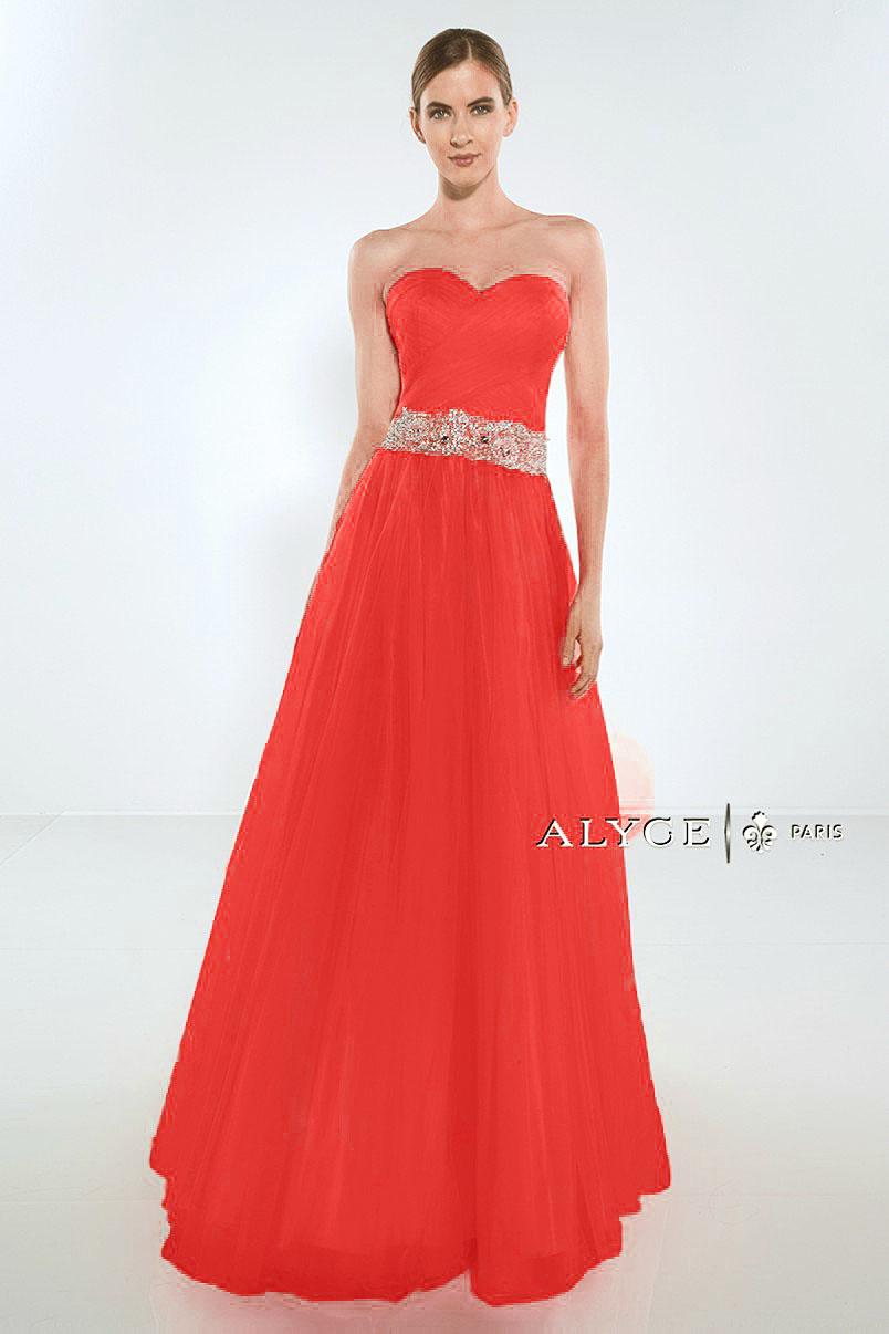 Alyce Paris Exclusive Red Dress 1005