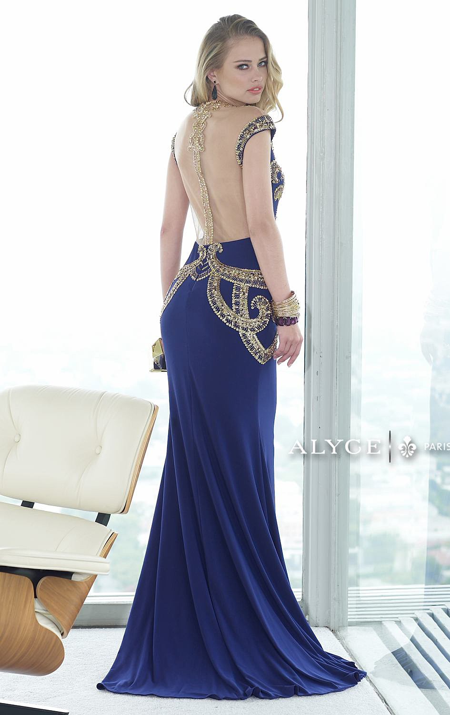 Alyce Paris Claudine Dress Cobalt Blue 2427