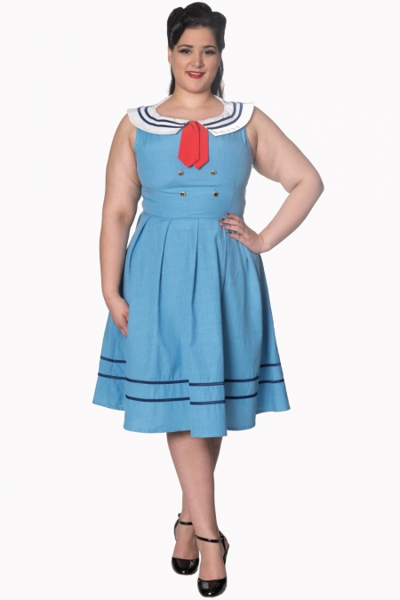 Dancing Days Aquarius 50s Sailor Sky Blue Dress
