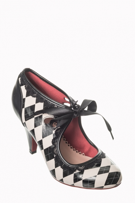 Dancing Days Argyll Monochrome 50s Shoes