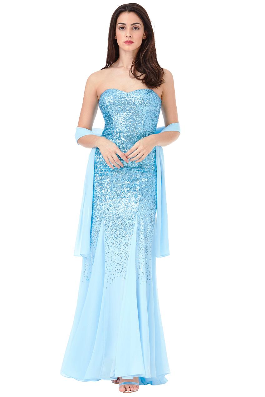 Azalea Blue Maxi Sequin Prom Dress Free Amp Fast Uk P Amp P
