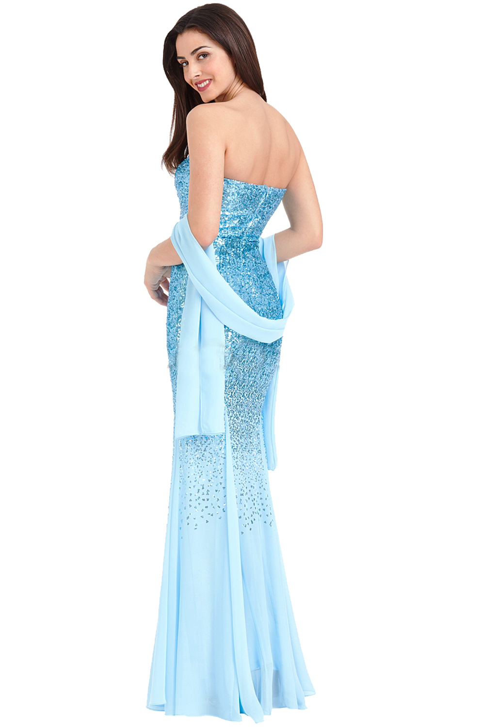 Azalea Blue Maxi Sequin Prom Dress Free Amp Fast Uk P Amp P