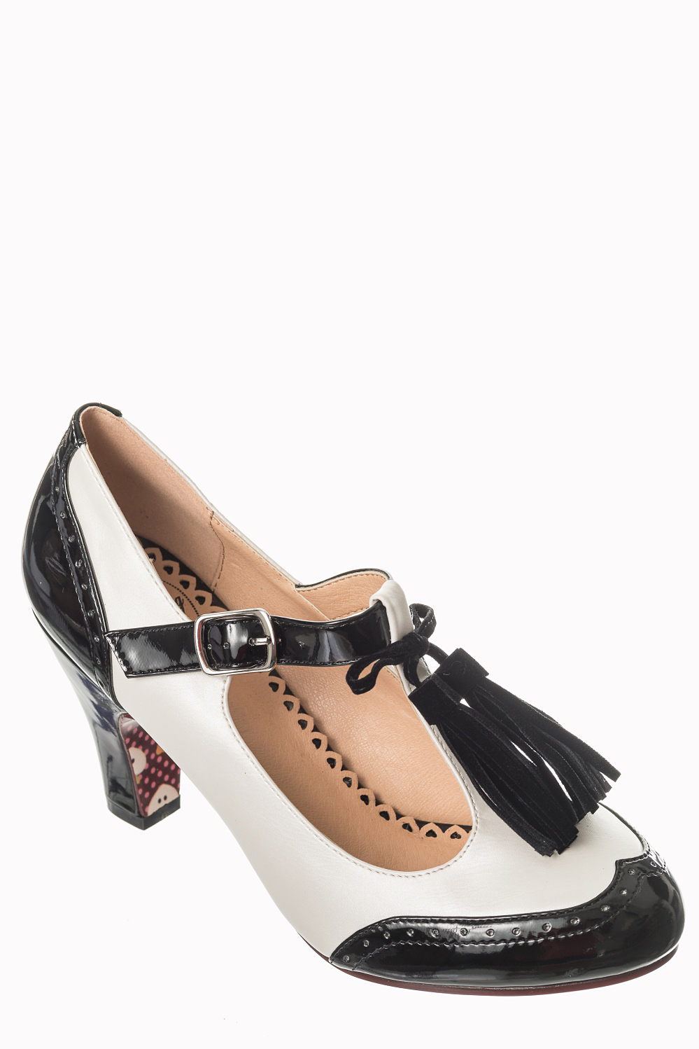 Dancing Days Baby Loves That Way 60s Brogue Monochrome Shoes