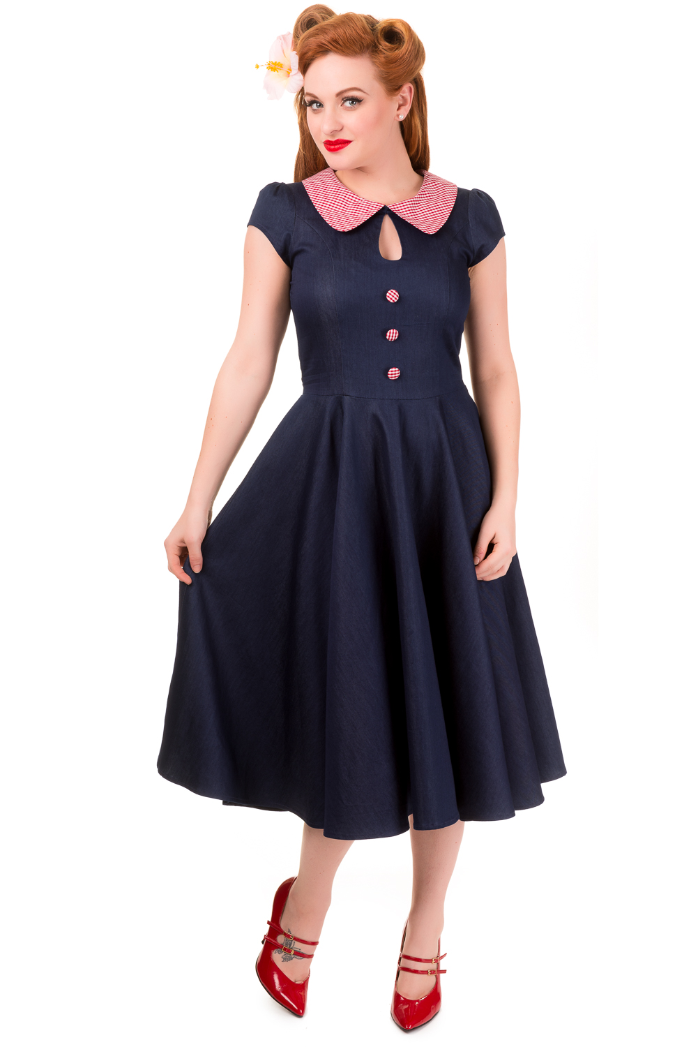 Banned Blueberry Hill Peter Pan Dress