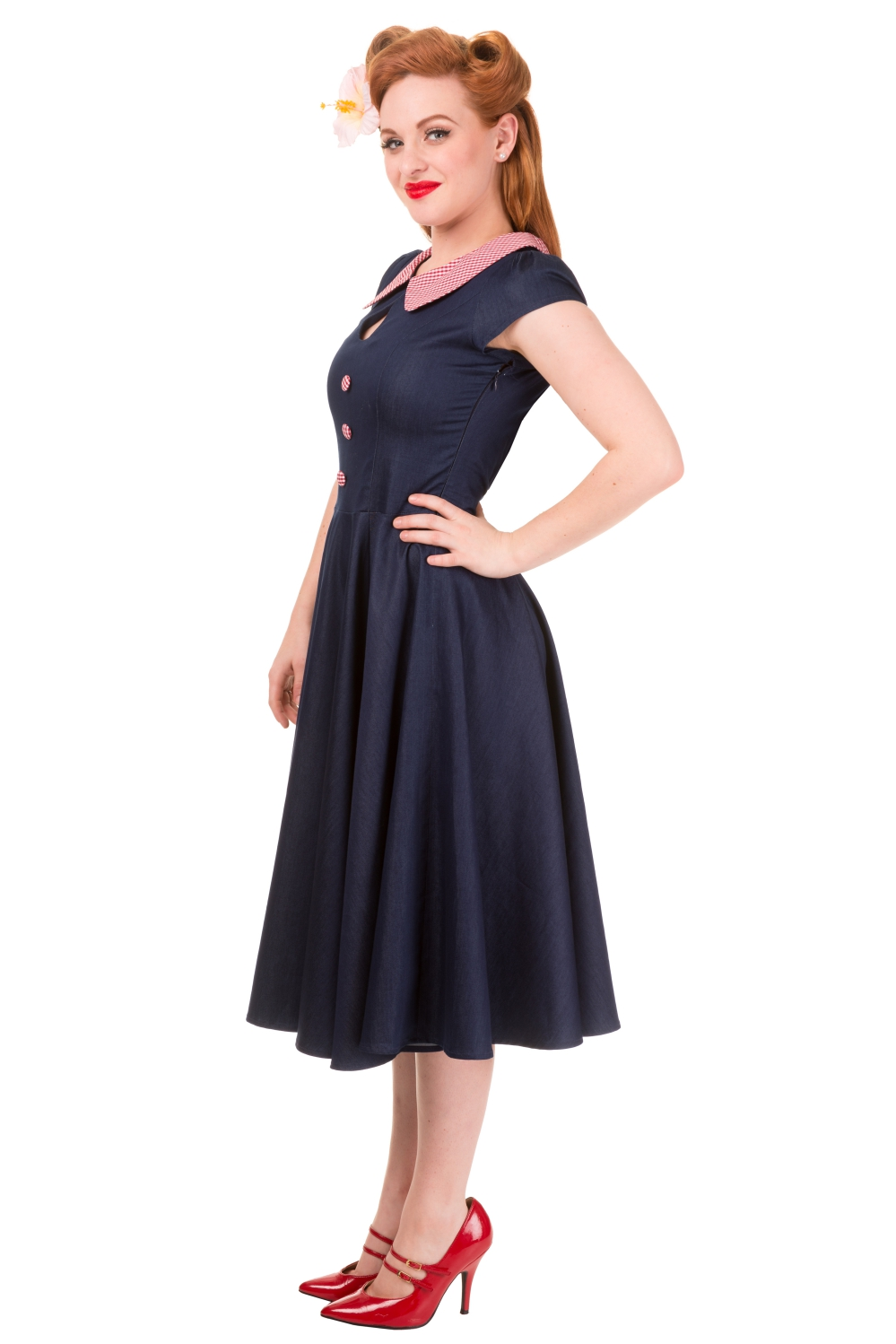 Banned Blueberry Hill Peter Pan 50s Dress